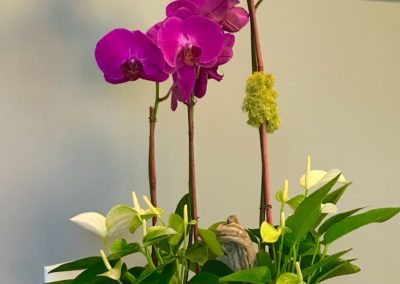 Floral Arrangement Purple Orchid